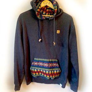 TENTREE grey hooded sweatshirt men's medium